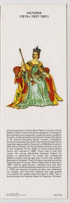 BOOKMARK - Kings & Queens of England, Queen Victoria, C L Humby 1979 | eBay