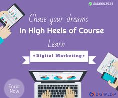 Chase your dreams in High Heels of Course. Learn Digital Marketing Call on : 8886602924 Inbound Marketing, Email Marketing, Social Media Marketing, Digital Marketing, Chase Your Dreams, Marketing Professional, Google Ads, Hyderabad, Seo