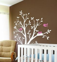 tree mural nursery
