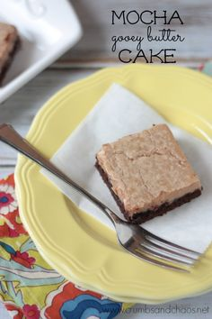 Mocha Gooey Butter Cake | Crumbs and Chaos