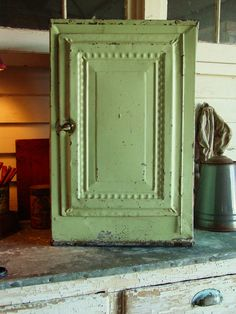 Old Farmhouse Kitchen Large Metal Pie Cake Safe. Cabinet doors like this (prolly in a lighter color) would be pretty fabulous.