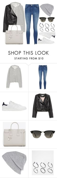 """Sin título #12005"" by vany-alvarado ❤ liked on Polyvore featuring H&M, 3x1, adidas Originals, Yves Saint Laurent, Ray-Ban, River Island and ASOS"