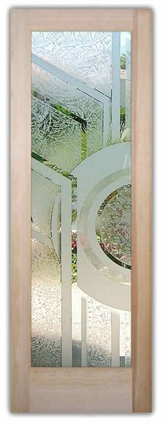 Ideas For Door Design Modern Stained Glass Frosted Glass Pantry Door, Etched Glass Door, Glass Front Door, Sliding Glass Door, Front Doors, Glass Doors, Modern Stained Glass, Stained Glass Door, Stained Glass Designs