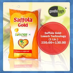 Ab Health Ke Sath Bachat Bhi...!! Saffola Gold Oil with Losorb Technology that too at 13% off.   #Wholesale_Ke_Bhav_Ghar_Pe_Pao #FreeHomeDelivery #NoMinimumCartValue