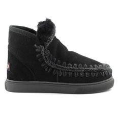 Mou Boots Mini Eskimo Sneaker Women Black - MOU #mouboots #mousale #moubootssale #BlackFriday