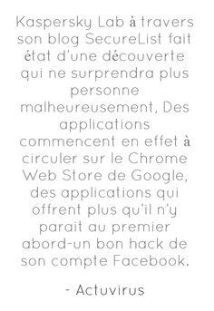 fausse applications sur le Chrome Web Store