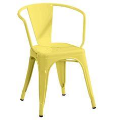 Fauteuil A56 de Tolix jaune  +-195