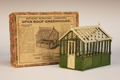 Bid Live on Lot 3106 in the Sale of Toys, Dolls and Games Auction from Toovey's. Britains Toys, British Garden, Miniature Gardens, Old Toys, Vintage Love, Toys For Girls, Doll Houses, Bambi, Box Art