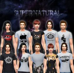 Supernatural shirts at Victor Miguel via Sims 4 Updates