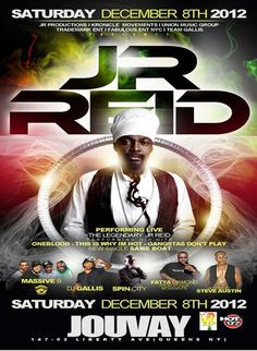 The Legendary JR Reid Performing Live @ Jouvay Saturday December 8, 2012