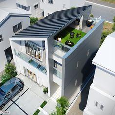 Modern Small House Design, Modern Exterior House Designs, Modern House Facades, Modern Architecture House, Exterior Design, 3 Storey House Design, Bungalow House Design, House Front Design, Arch House