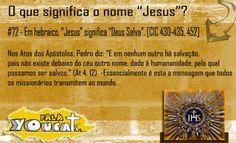 """O que significa o nome """"Jesus""""?"""