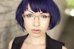 Zoetica Ebb by Lou O'Bedlam - short purple hair with choppy fringe-- looks great!