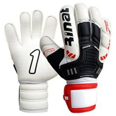 Rinat Titan Premier Goalkeeper Glove - White/Bla (8) by JIMA USA INC.. $80.99. PALM: 3 mm foam for a secure and confident grip. The inside of the palm has a fell that offers a comfortable fit.BACKHAND: 3 mm super softy foam with 5 mm PU foam panels for superior cushioning and protection.CLOSURE: Comfortable elastic, adjustable strap. Extended wrist for a larger gripping surface. 100% polyester textile with moisture wicking technology for added comfort.BEST FOR: Match ...