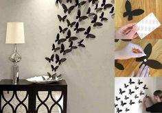 Motýlková dekorace na zeď