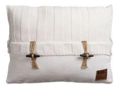 rib kussen gebreid knit factory wit 60 x 40