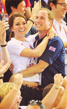 Prince William and Kate Middleton being adorable