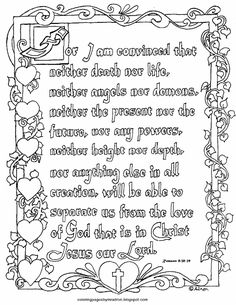 Coloring Pages for Kids by Mr. Adron: Search results for Romans 8:38-39