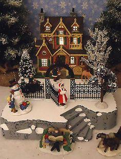 Christmas Snow Village Display ADD-ON Platform Base Dept 56 Lemax B | Collectibles, Decorative Collectibles, Decorative Collectible Brands | eBay!