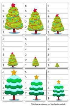 Bataille des sapins -MG-GS - weihnachten Christmas Bark, Christmas Truffles, Ribbon On Christmas Tree, Winter Christmas, Christmas Cookies, Xmas, Christmas Activities For Kids, Preschool Christmas, Christmas Crafts