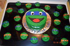 Teenage Mutant Ninja Turtles - I created this cake & cupcake set based on an idea we found on Pinterest.