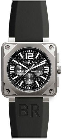 Buy Bell & Ross BR Chronograph Pro Titanium Watches, authentic at discount prices. Complete selection of Luxury Brands. All current Bell & Ross styles available. Gold Watches Women, Watches For Men, Men's Watches, Bell Ross, Expensive Watches, Watch Photo, Stunning Photography, Watch Companies, Black Rubber