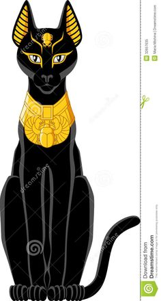 Illustration about Illustration of a black Egyptian cat isolated on white background. Illustration of head, egypt, traditional - 32657635 Egyptian Cat Goddess, Egyptian Mythology, Egyptian Symbols, Bastet Goddess, Egyptian Party, Ancient Egypt Art, Frida Art, Fantasy Kunst, Cat Art