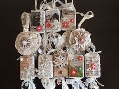 ▶ Christmas Ornaments with vintage images-So Shabby Chic (Tutorial) - YouTube