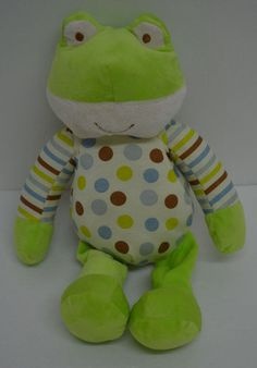 Polka Dot Green Frog Plush Yanqzhou Hengan Toys Stuffed Animal WM70049834-911 #YanqzhouHengan http://stores.ebay.com/Lost-Loves-Toy-Chest?_dmd=2&_nkw=frog