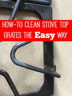 I need to try this ~ the easy scrub-free way to clean stove top grates ~ so smart!