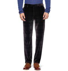 Etro Check Velvet Trousers   MR PORTER