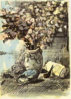 Honesty in a Vase - Vincent van Gogh - WikiPaintings.org