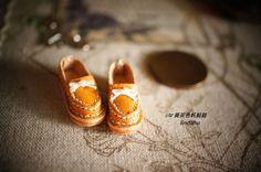 1/12黃茶色帆船鞋