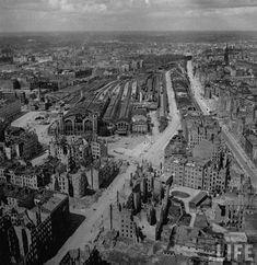 Berlin 1945 Nachkriegsbilder vom beseitigten Stettiner Bahnhof aus dem Jahr 1945: