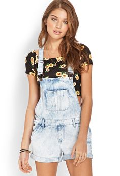 Denim Days Overall Shorts | FOREVER21 - 2000070100