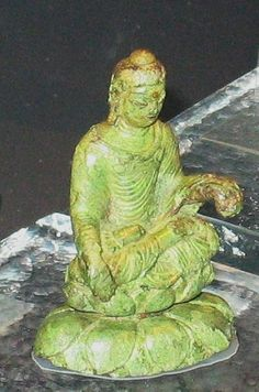 Indo greek Buddha found at Helgö, Sweden in an iron age viking tomb
