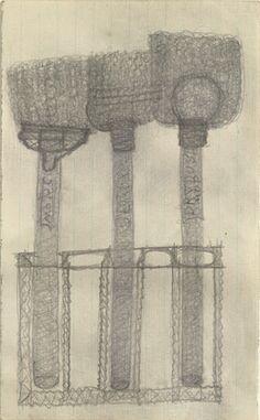 Pearl Blauvelt. Three Dry Mops. c. 1940