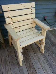 2x4 chair, similar to a current project