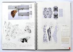 Entomology Fashion Sketchbook fashion design inspired by butterflies