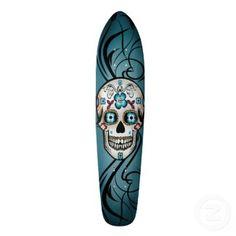 Santa Calavera skateboard