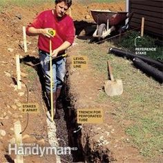 Yard drainage solutions trench drain 35 ideas for 2019 Gutter Drainage, Backyard Drainage, Drainage Ditch, Yard Games For Kids, Diy Yard Decor, Drainage Solutions, Drainage Ideas, Trench Drain, Landscaping On A Hill