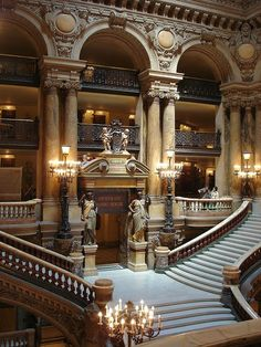 the stairs at l'opera garnier in paris. quite possibly one of my favorite places on the entire planet. truly beautiful.