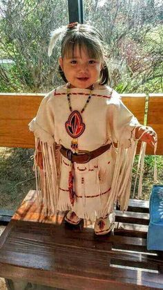 Cute little native american girl