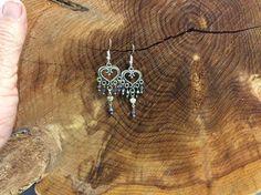Handcrafted Heart Shaped Boho Earrings
