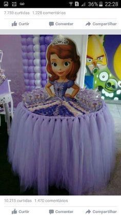 Mesa / saia de princesa