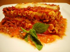 My mom makes the best Lasagna ever!!!!