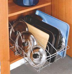 Výsuvná polička na pokrievky a tácky | Kuchynské doplnky | Fortel
