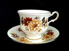 Teacup Coffee Cup Saucer Queen Anne England by MegsEndeavors, $16.99