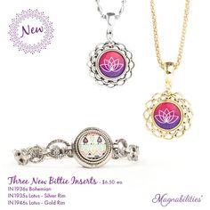 """Magnabilities has some brand new 1/2"""" inserts (bitties). Wear them in your necklaces, bracelets, and rings!"""