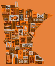 """Thank You Minnesota"" poster by Draplin Design Co., North America"
